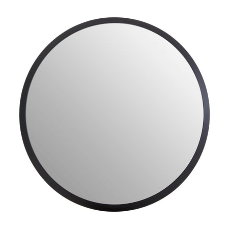 Black Rounded Framed Medium Convex Mirror