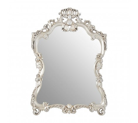 Ornate Silver Waisted Mirror