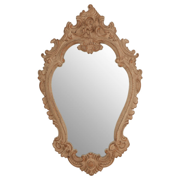 Antique Brown Rococo Wall Mirror