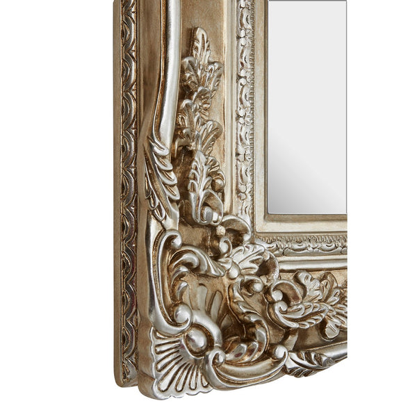 Champagne Silver Ornate Wall Mirror