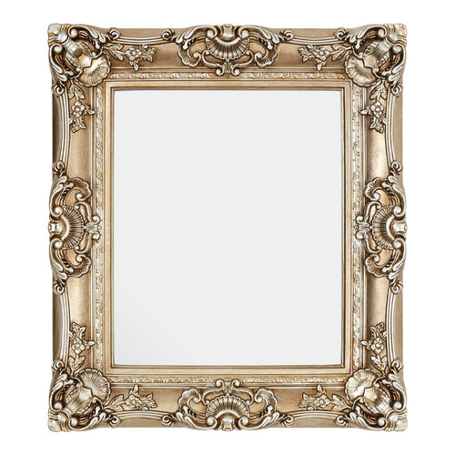 Champagne Square Ornate Wall Mirror