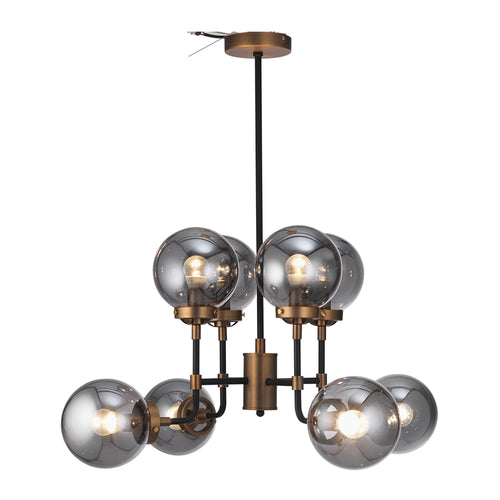 Titanium Smoked Glass Ball Chandelier