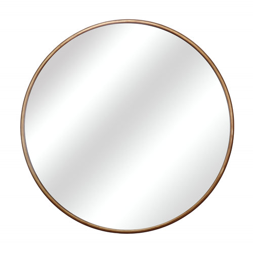 Round 120cm Gold Gilt Metal Mirror