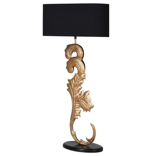 Gilt Scroll Table Lamp 100cm