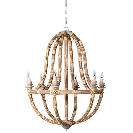 Shaker Style 6 Branch Chrome Chandelier
