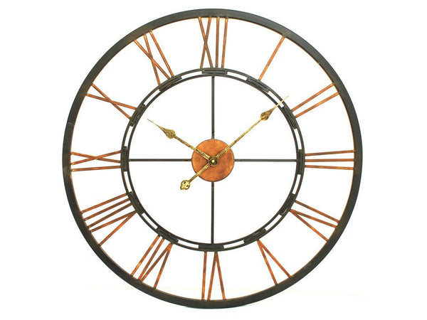 Black & Copper Skeleton Clock 28'' & 40''