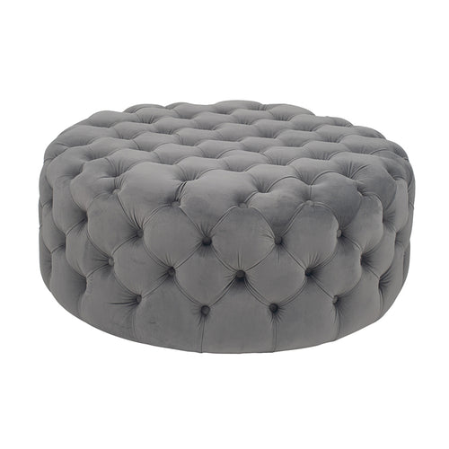 Round Buttoned Stool