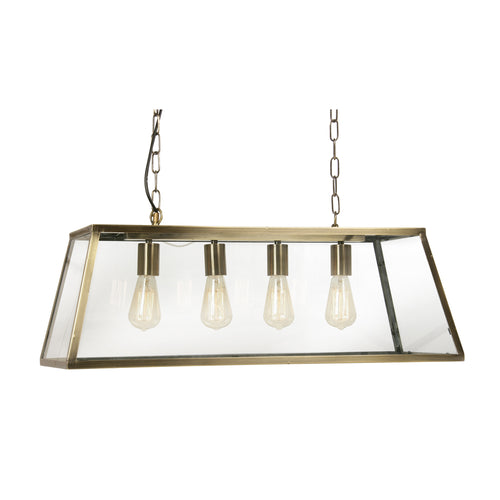 Linear Glass Lantern Light