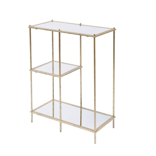 Mirrored Shelving Unit