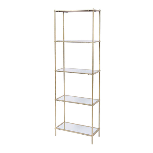 5 Tier Mirrored Shelving Unit