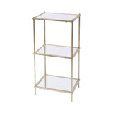 3 Tier Mirrored Shelving Unit