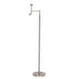 Nickel Satin Metal Floor Lamp with Fitted Directional LED Light