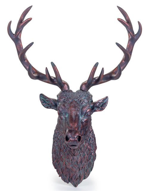 Large Antique Bronze Finish Effect Stag Wall Head