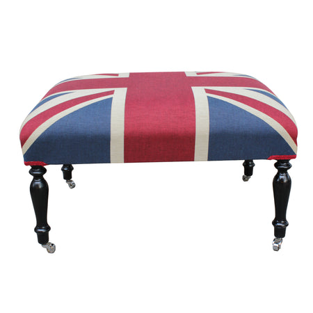 Savile Row Buttoned Coffee Table Stool