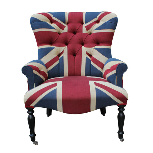 Large Button Back Union Jack Chair