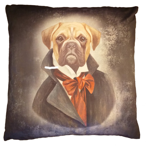 "Bulldog Feather Filled Cushion 20"" / 18"""