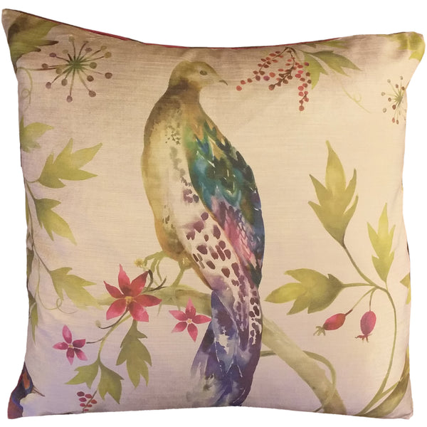 "Paradise bird 2 Feather Filled Cushion 20"" / 18"""