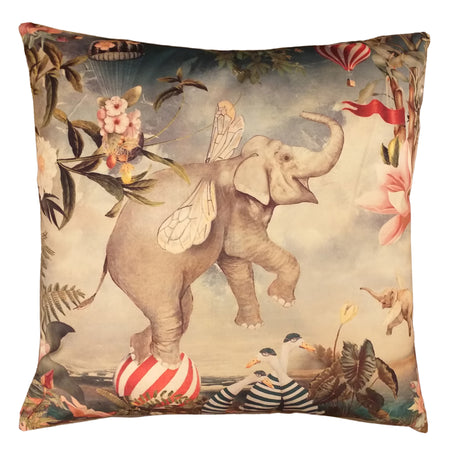 Velvet Elephant Cushion