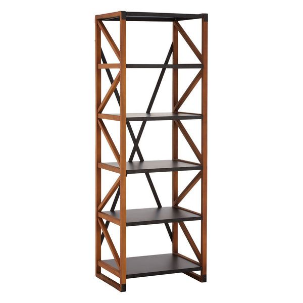 Wood & Metal 6 Bookshelf Unit