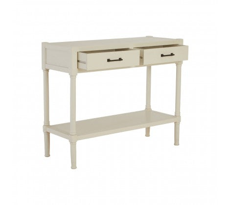 White 2 Drawer Console