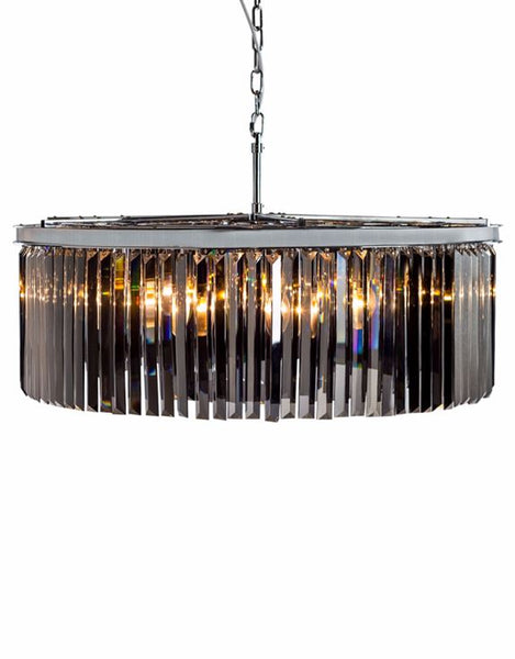 Extra Extra Large Smoked Glass Prism Chandelier