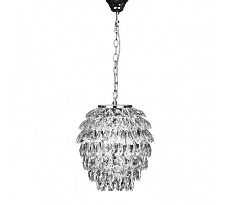 Long Crystal Prism Chandelier