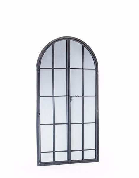 Antique Grey Window Mirror 170 cm
