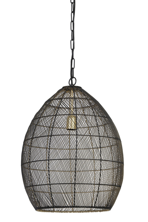 Antique Bronze Mesh Pendant