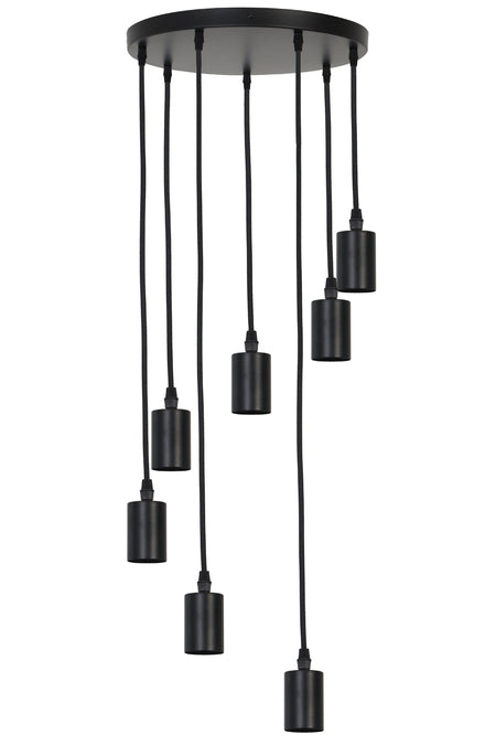 Black Textured Bulb/Pendant Holder
