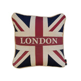 Small Square Union Jack Cushion - London 30 x 30 cm