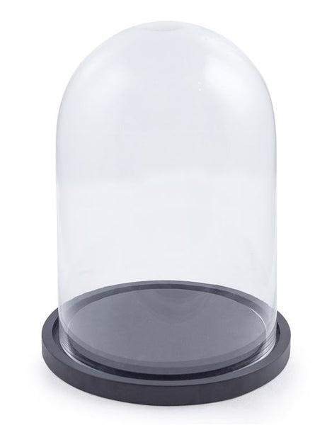 Glass Cloche With Black Base - 3 Sizes