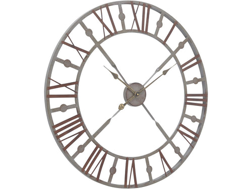 Antique Grey Skeleton Wall Clock 29''
