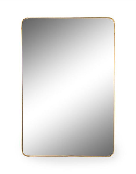 Westdene Rectangular Gold Frame Mirror 121 x 81 cm
