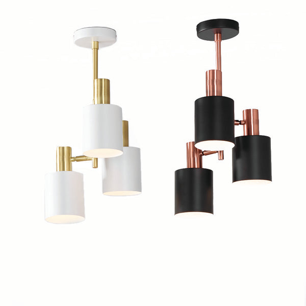 3 Light Pendant (White & Brass - Black & Copper)