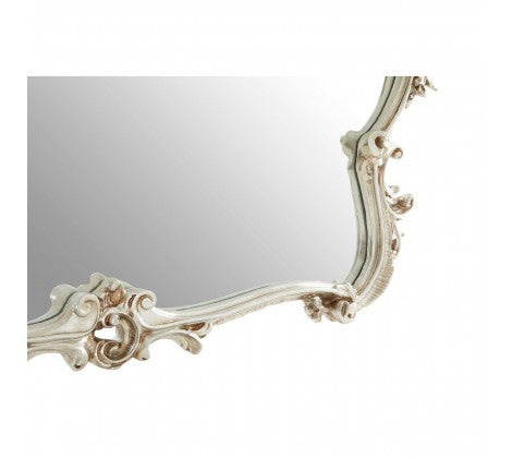 Ornate Silver Overmantle 103 cm