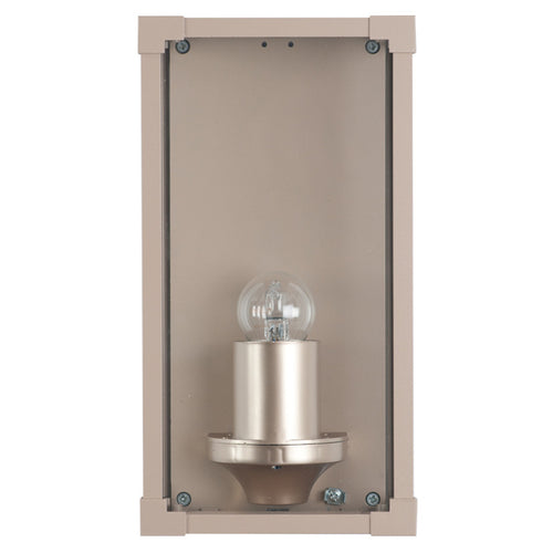 Metal & Glass Box Outdoor Wall Light