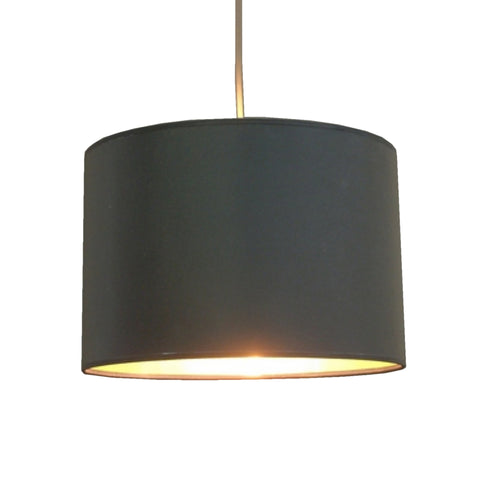 Balck Fabric Pendant Shade With Gold Lining