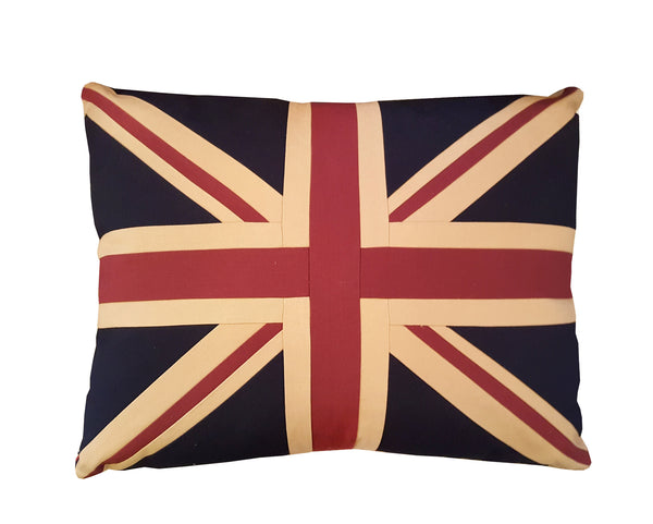 Large Union Jack Cushion - Plain 69 x 53 cm