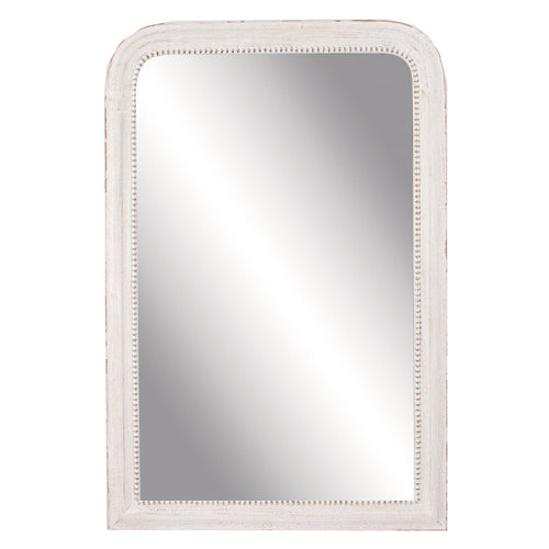 Classic White Beaded Mirror