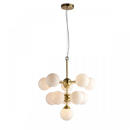 Clear Glass Eight Light Orb Chandelier