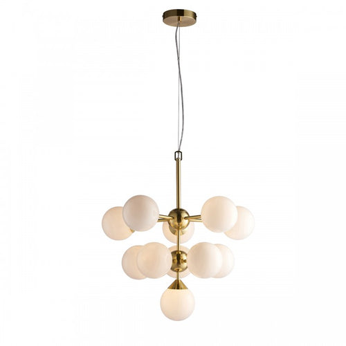 Aria Opal 11 Light Pendant - Gold