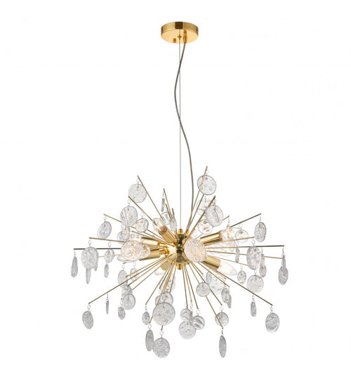 Gold 8 Light Chandelier