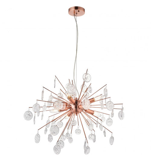 Copper 8 Light Chandelier