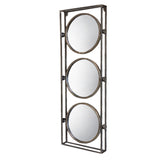 Metal Framed 3 Round Mirrors