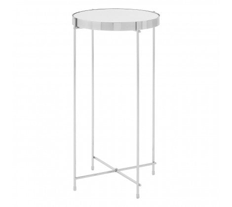 Chrome and Glass Side Table
