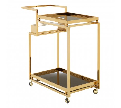 Gold and Black Drinks Trolley