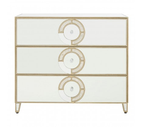 Deco Mirrored Chest of Drawers