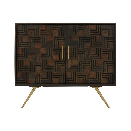 Geometric Patterned Cabinet
