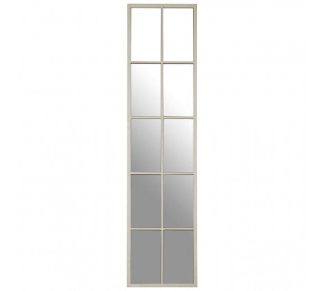 Tall Silver Window Mirror