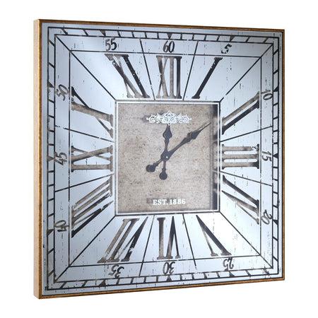 Cedar Panel Wooden Wall Clock